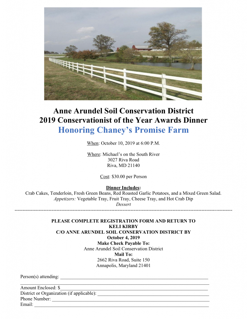 AASCD Conservationist of the Year Dinner 2019